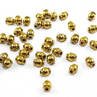 Mezidíly - zlaté - 6 x 5 mm - 10 ks