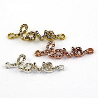 Love s kamínky - různá provedení - 43 x 14 x 3 mm - 1 ks