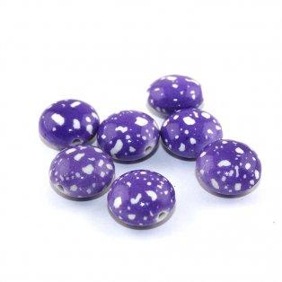 Akrylová lentilka - fialová - 18 x 12 mm - 1 ks