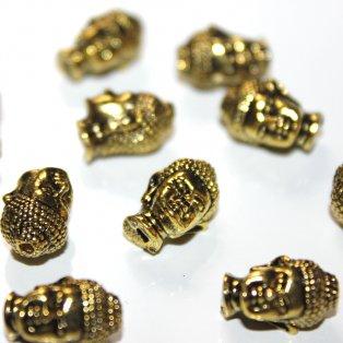 Buddha - zlatý - 13 x 9 x 10 mm - 1 ks