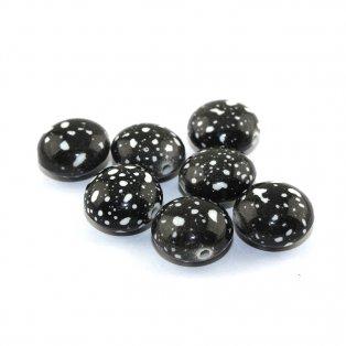 Akrylová lentilka - černá - 18 x 12 mm - 1 ks
