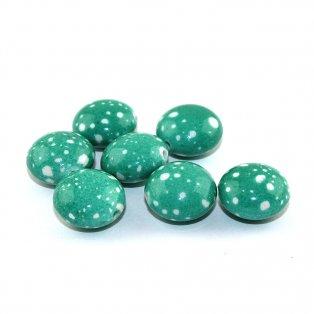 Akrylová lentilka - zelená - 18 x 12 mm - 1 ks