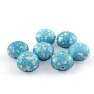 Akrylová lentilka - modrá - 18 x 12 mm - 1 ks