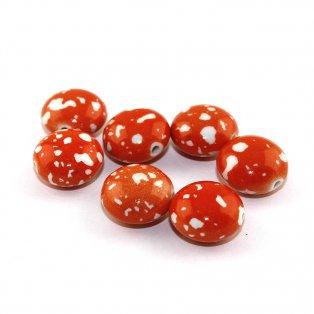 Akrylová lentilka - oranžová - 18 x 12 mm - 1 ks