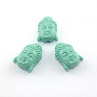 Buddha ze syntetického korálu - tyrkysový - 28 x 20 x 11 mm - 1 ks
