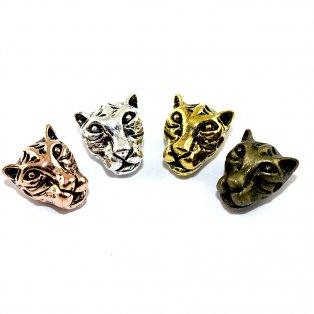 Kovový mezidíl - různá provedení - leopard - 13 x 12 x 9 mm