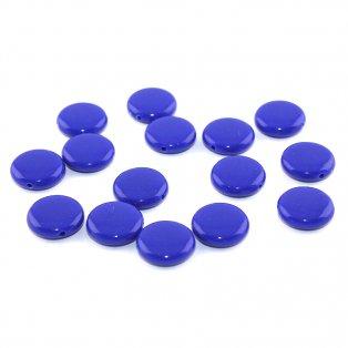 Akrylové lentilky - tmavě modré - typ A - 14 x 5 mm - 10 ks