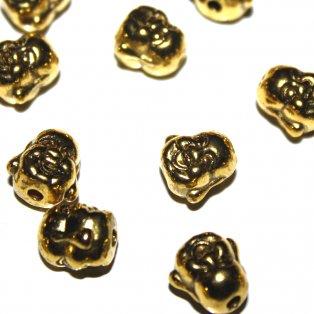 Buddha - zlatý - 10 x 10 x 9 mm