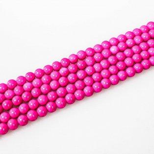 Skleněné korálky - růžové - Ø 8 mm - 10 ks