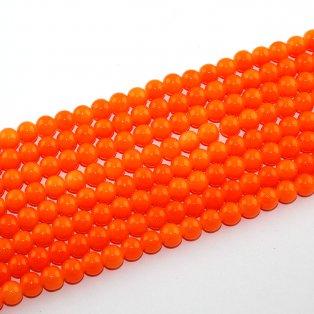 Imitace nefritových korálků - oranžové - ∅ 8 mm - 10 ks