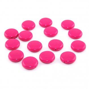Akrylové lentilky - růžové - typ A - 14 x 5 mm - 10 ks