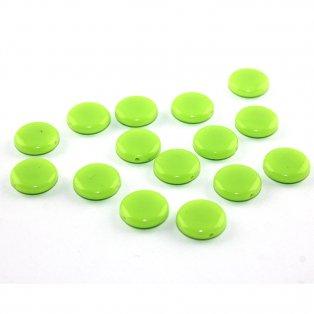 Akrylové lentilky - zelené - typ A - 14 x 5 mm - 10 ks
