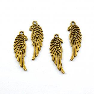 Křídlo - zlaté - 34 x 11 x 2 mm - 1 ks