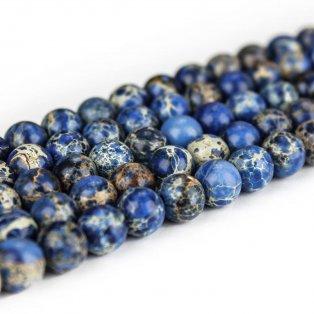 Přírodní regalit - tmavě modrý - ∅ 8 mm - 1 ks