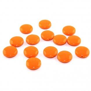 Akrylové lentilky - oranžové - typ B - 14 x 5 mm - 10 ks