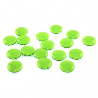 Akrylové lentilky - zelené - typ B - 14 x 5 mm - 10 ks