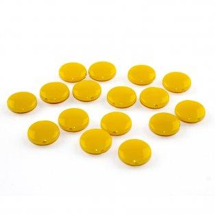 Akrylové lentilky - žluté - typ B - 14 x 5 mm - 10 ks