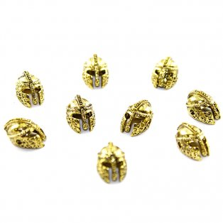 Helma sparťanů - zlatá - 15 x 10 x 9 mm - 1 ks