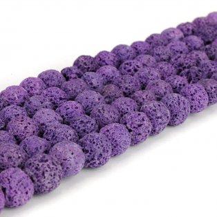Přírodní láva - fialová - ∅ 8 mm - 1 ks