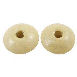 Dřevěné korálky - bílé - ∅ 6 mm - 5g / cca 130 ks