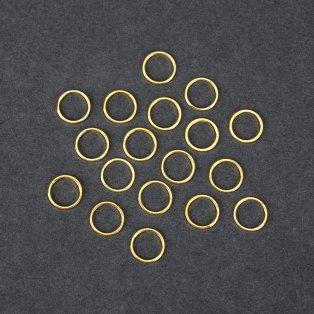 Mosazný spojovací mezidíl - zlatý - kroužek - 10 x 10 x 1 mm - 1 ks