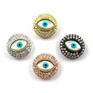 Oko se zirkony - různá provedení - 15 x 6 mm - 1 ks