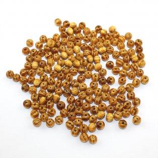 Dřevěné korálky - hnědé - ∅ 5 mm - 10 ks
