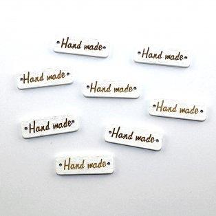 Dřevěný mezidíl Hand made - bílý  - 10 x 30 x 3 mm - 1 ks