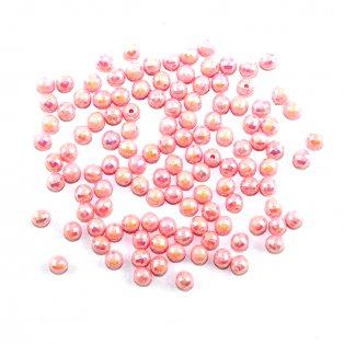 Akrylové korálky broušené - růžové - ∅ 6 mm - 10 ks