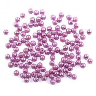 Akrylové broušené korálky - světle fialové - ∅ 6 mm - 10 ks