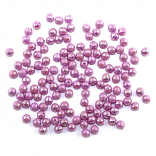 Akrylové korálky broušené - fialové - ∅ 6 mm - 10 ks