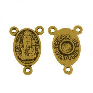 Mezidíl pro růženec - zlatý - 18 x 12 x 3 mm - 1 ks