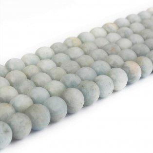 Přírodní akvamarín - matný - třída AB - ∅ 8 mm - 1 ks