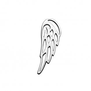 Přívěsek z nerezové oceli - křídlo - 17 x 6 x 1,2 mm - 1 ks