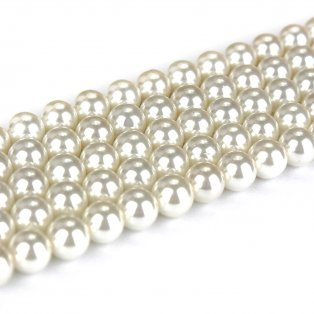 Přírodní shell perla - bílá - ∅ 6 mm - 1 ks