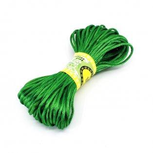 Saténová šňůra - zelená - Ø  2 mm - 20 m - 1 ks