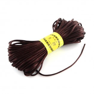 Polyesterová šňůra - tmavě hnědá - ∅ 2 mm - 20 m - 1 ks