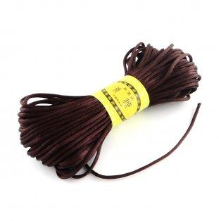 Saténová šňůra - tmavě hnědá - ∅ 2 mm - 20 m - 1 ks