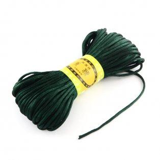 Saténová šňůra - tmavě zelená - ∅ 2 mm - 20 m - 1 ks