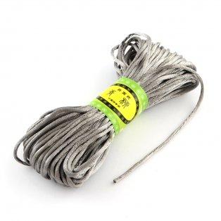 Saténová šňůra - šedá - ∅ 2 mm - 20 m - 1 ks