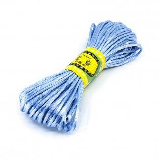 Saténová šňůra - světle modrá - Ø 2 mm - 20 m - 1 ks