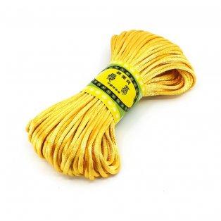 Saténová šňůra - medově žlutá - Ø 2 mm - 20 m - 1 ks