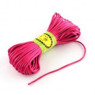Polyesterová šňůra - tmavě růžová - ∅ 2 mm - 20 m - 1 ks