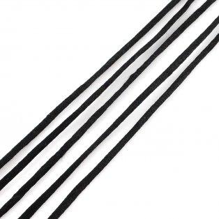 Saténová šňůra - černá - Ø 2 mm - 1 m - 1 ks