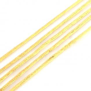 Saténová šňůra - zlatohnědá - Ø 2 mm - 1 m - 1 ks