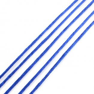 Saténová šňůra - královsky modrá - Ø 2 mm - 1 m - 1 ks