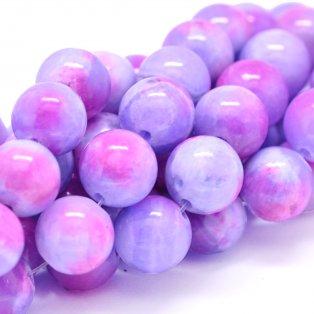 Přírodní perský nefrit - fialovorůžový - ∅ 8 mm - 1 ks