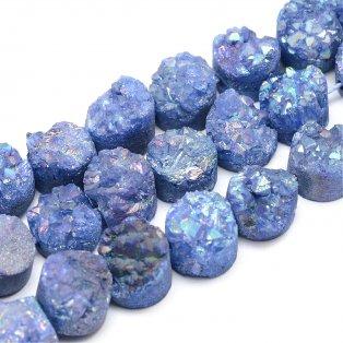 Pokovená drúza z přírodního křišťálu - 7~12 x 5~10 mm - světle modrá - 1 ks