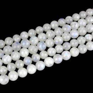 Přírodní měsíční kámen - třída A - ∅ 5,5 mm - 1 ks