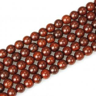 Korálek z červeného santalového dřeva - ∅ 8 mm - 1 ks